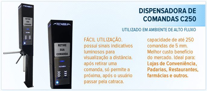 Dispensadora de Comandas C250